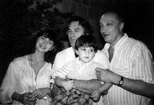 Михаил Козаков с Робертом Де Ниро, женой Анной и сыном Мишей. Тель-Авив, 1994